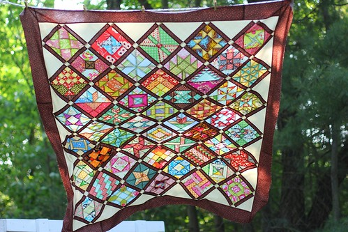Farmer's Wife Quilt Top - flying in the breeze!