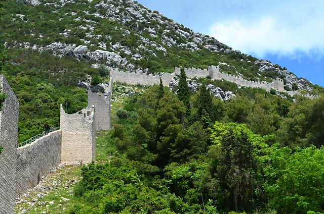 Ston Wall, Ston, Peljesac, Croatia