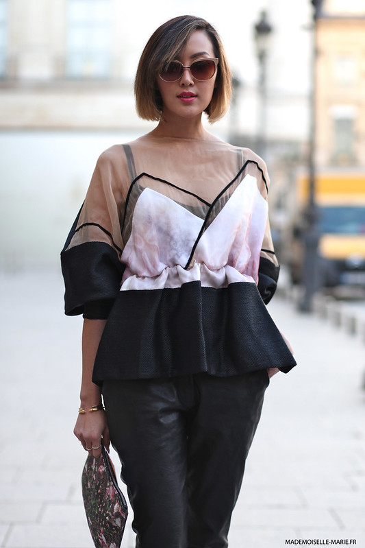 Chriselle Lim at Paris fashion week copie