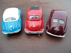 Split rear window late 1940s/early 1950s saloons: IFA F9, EMW 340-2 & Volvo PV444A