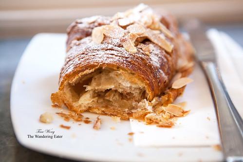 Flaky almond croissant