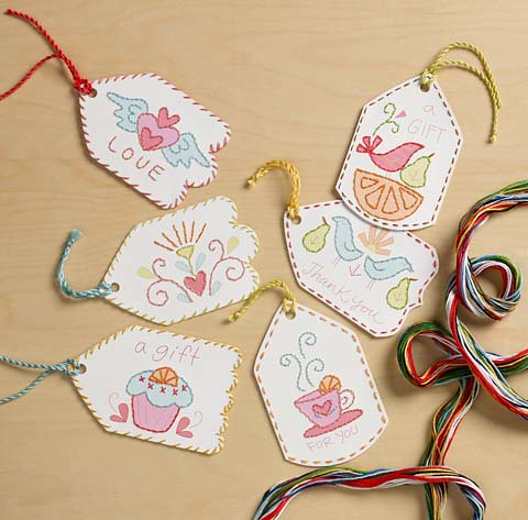 Paper Stitching gift tag kit