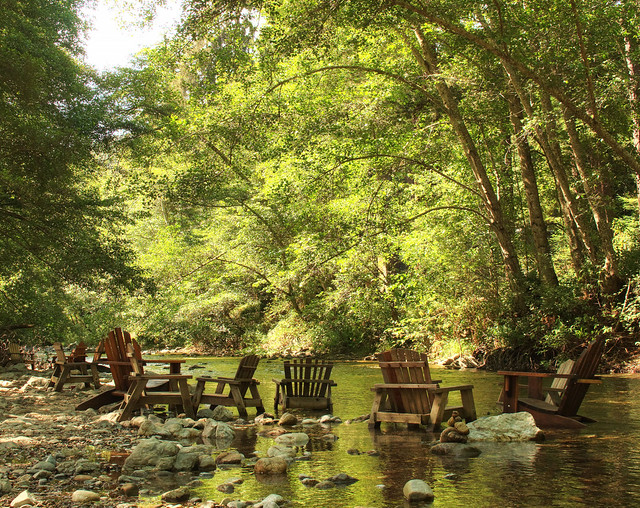 Lounging on the Big Sur River