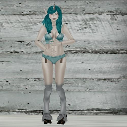 Aquamarine Faun doll