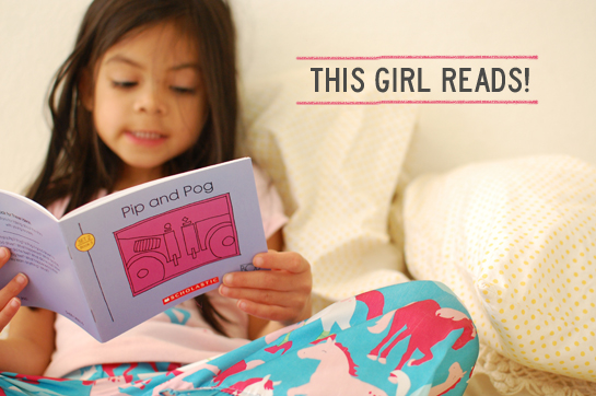 she reads!