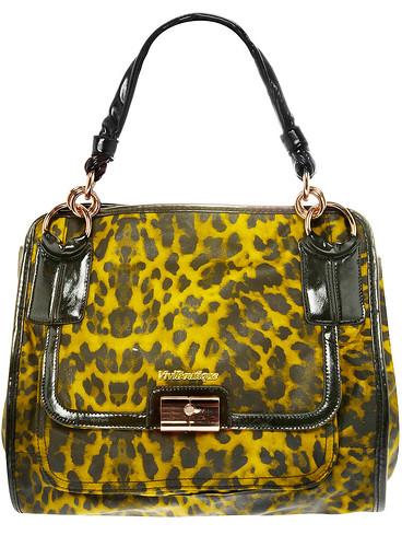 Yellow leopard shopper bag