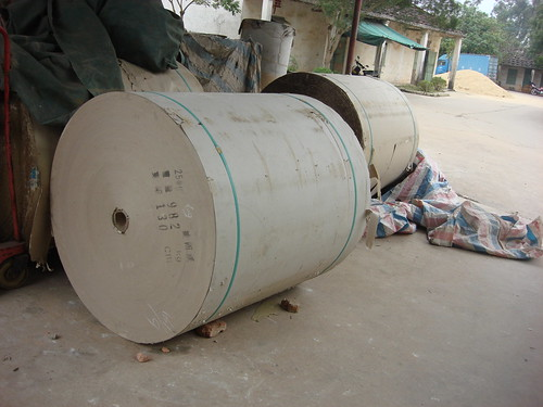 Big Rolls Of Paper For Tubes  - Epic Fireworks China Trip 2012