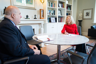 10:10 am--President Amy Gutmann and EVP Craig Carnaroli