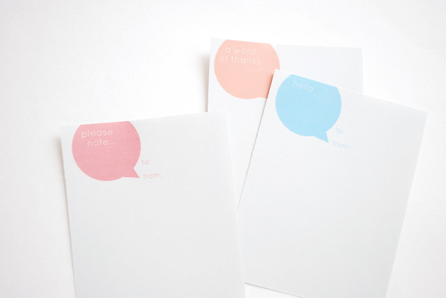 Printable Speech Bubble Notes