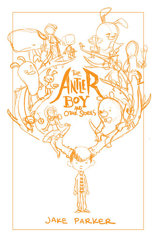 The Antler Boy Cover - Roughs