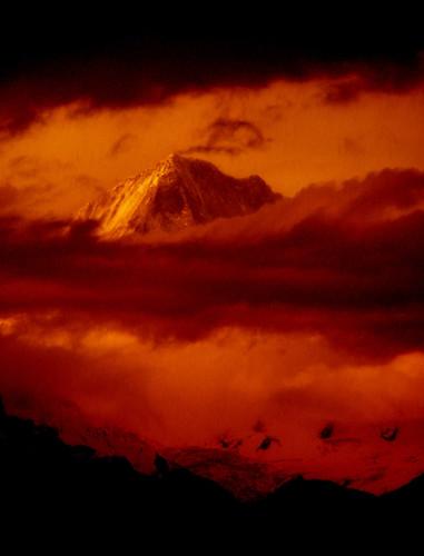 nepal sunset mountain himalaya pokhara annapurna