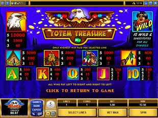 Totem Treasure Slots Payout