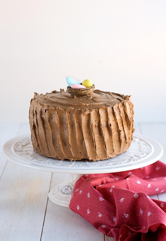 Tarta para Pascua de chocolate y caramelo