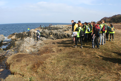 Geology Students on Isle of Arran, Scotland