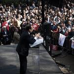 Rassemblement de François Hollande à Tours le 3 avril 2012. ©Benjamin Boccas