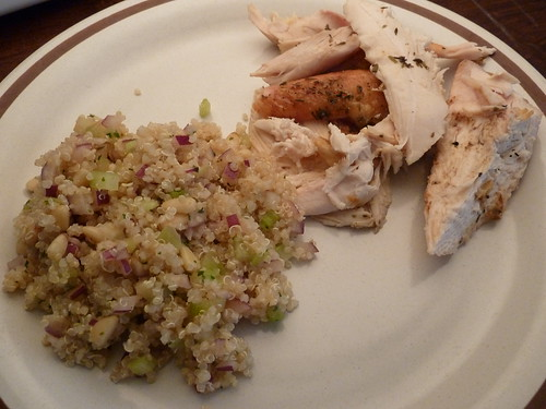 Roasted Herb Chicken and Lemony Quinoa