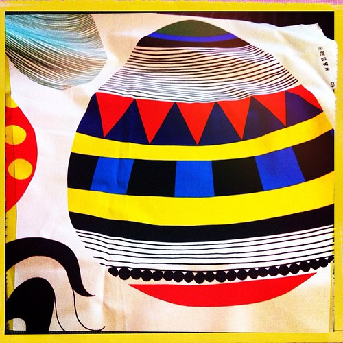 My beautiful #marimekko Easter fabric arrived from @kiitosmarimekko ! I know it's not Easter but it's so cute!!!