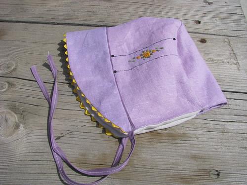 Vintage Linen Bonnet