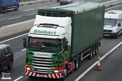 Scania R440 6x2 Tractor - PF10 OEO - Rochelle Maria - Green & Red - 2010 - Eddie Stobart - M1 J10 Luton - Steven Gray - IMG_4526