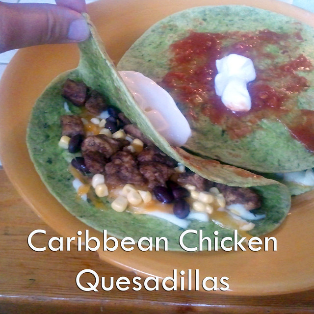 Caribbean Chicken Quesadillas
