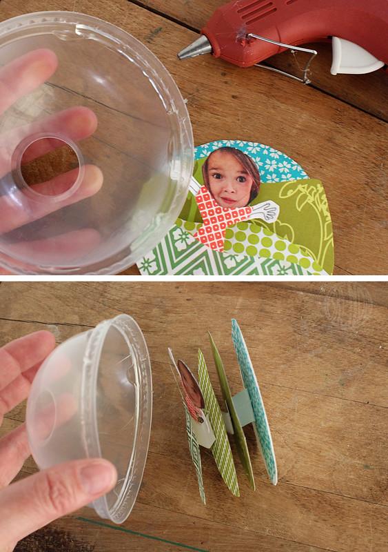 glue and affix lid
