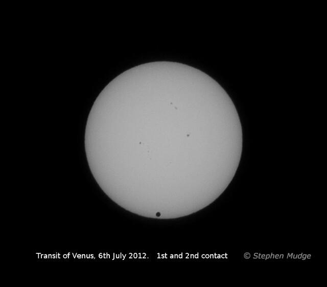 Venus transit animation