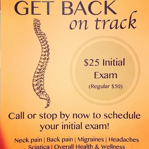 Flyer drops. Gotta love em! #chiropractic