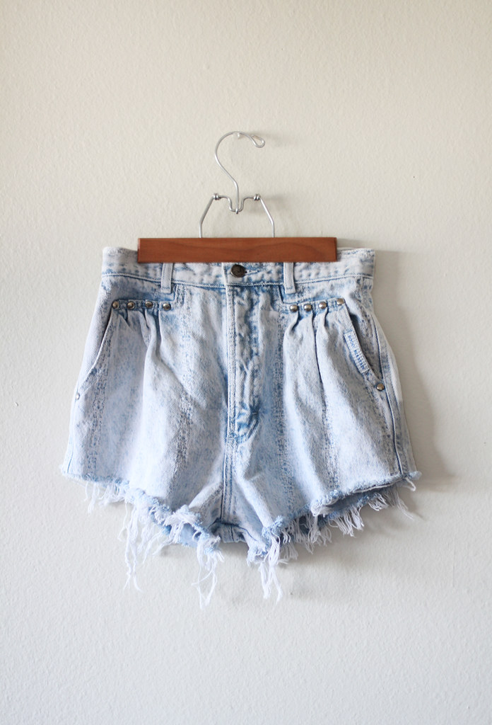 Tarte Vintage Studded cut off denim shorts at shptarte.com