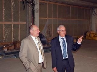 Präsident Ebner besichtigt die Baustelle