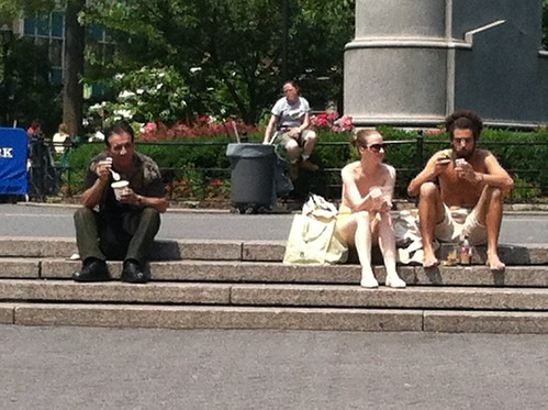 no shirt in union square!