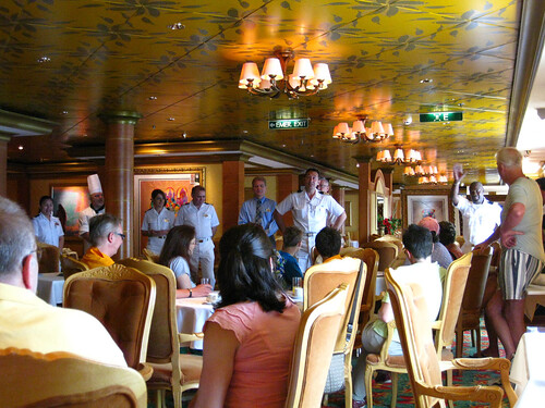 Norwegian Jade officers at Cruise Critic Meet-and-Greet in Le Bistro restaurant