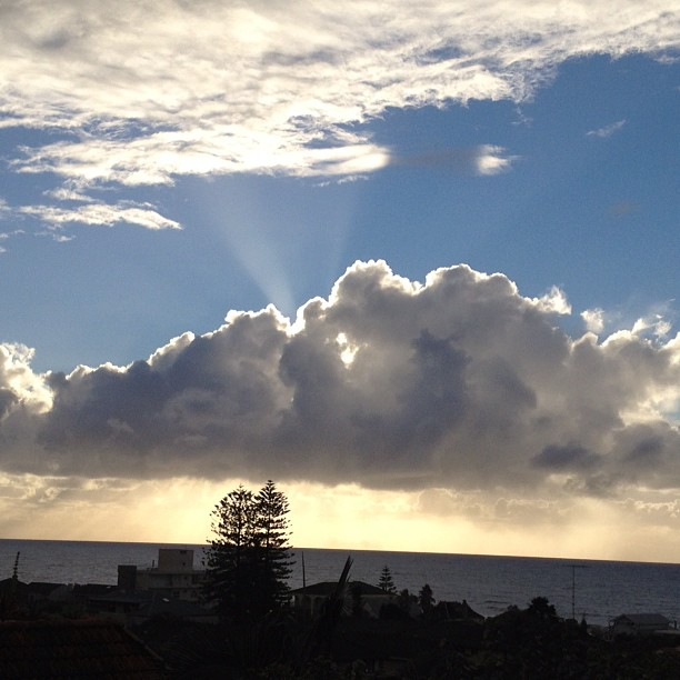 This mornings view from my verandah. Hoping to get a break from the rain.