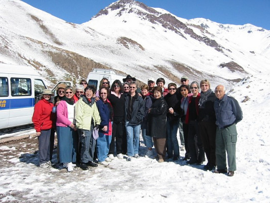 Womensing enjoy a day trip in the Andes during its tour of Argentina, Uruguay and Brazil