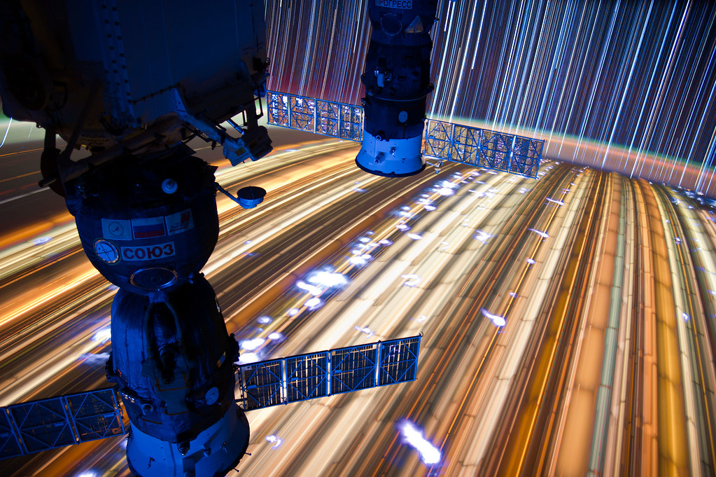 """[ISS] """"ISS star trails"""" 7186867293_ee384e5a23_b"""