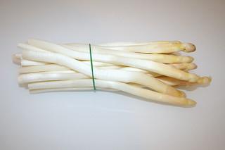 02 - Zutat weißer Spargel / Ingredient white asparagus