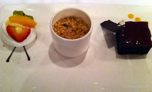 Sweet Temptations dessert trio. Disney Dream cruise.