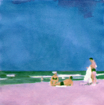 Three Bathers (Blue), 2004