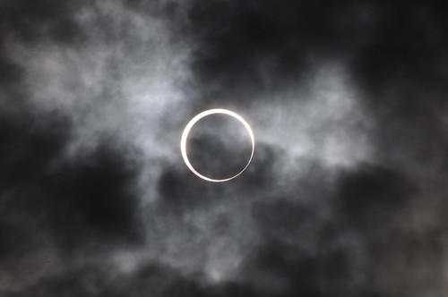 大阪の金環日食