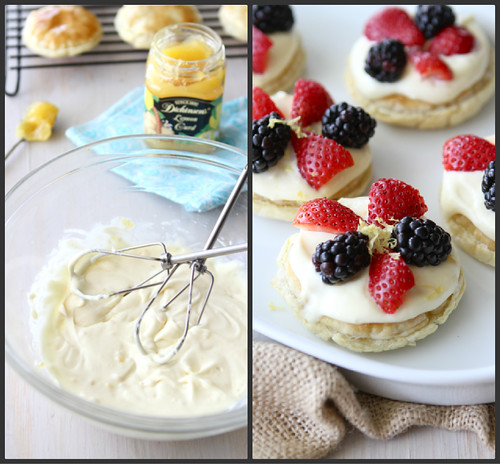 Puff Pastry Dessert Rounds with Lemon Mascarpone & Fresh Berries Recipe