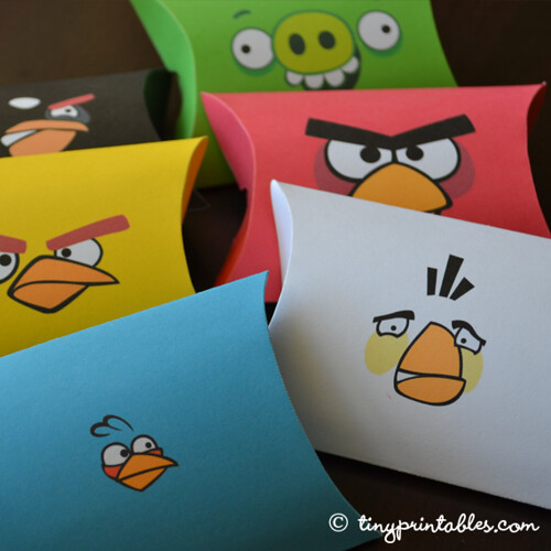 Angry Birds Birthday Party Printables - Favor Boxes