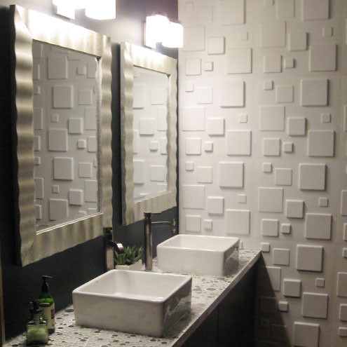 Give your bathroom a luxurious look with WallArt embossed wall panels!