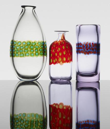 Antonio Da Ros, Murrine vases, set of three, 1963, Lot 247