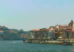 Porto seen from Boat Ride (Posterized) by randubnick