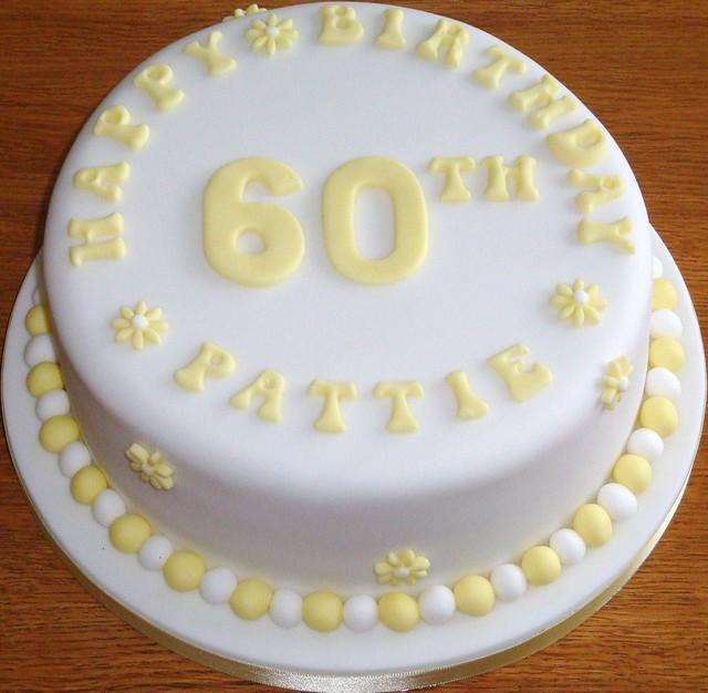 Birthday Cake - 60th - Yellow & White | Flickr - Photo Sharing!