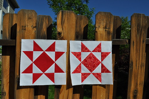 Ohio Star blocks for May's {Faith} do.Good Stitches bee.