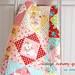 vintage nursery quilt~ on ladder!
