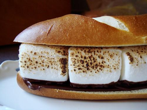 S'mores Pretzel Sandwich