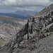 216-20120509_Arkle-Sutherland-returning from main summit to S summit-view E across S summit crags towards Ben Hope (927m) by Nick Kaye