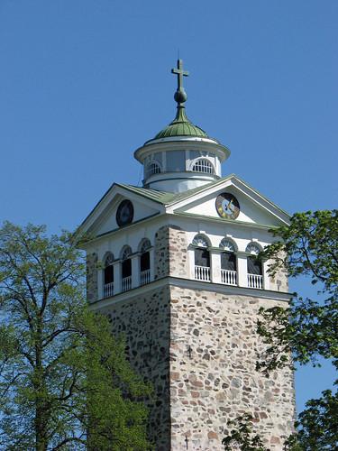 tower church canon suomi finland snapshot may tourist oldtown torni kirkko turisti tammisaari vanhakaupunki raasepori toukokuu näpsy copyleftby seppouusitupa