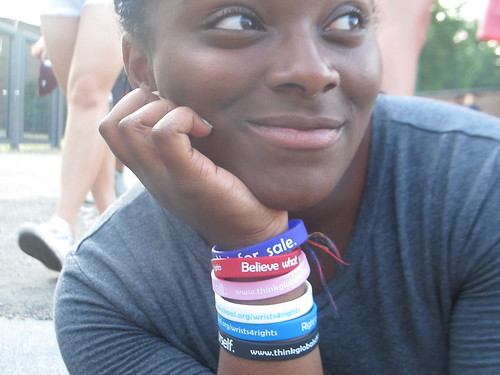 Wrist for Rights is a student led, non- profit organization that raises awareness about children's rights.